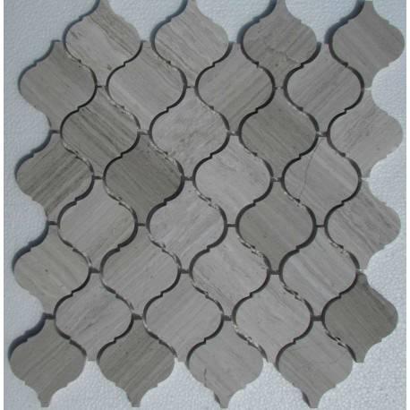 FK Marble Arabesco White Wooden 62x74 каменная мозаика-плитка