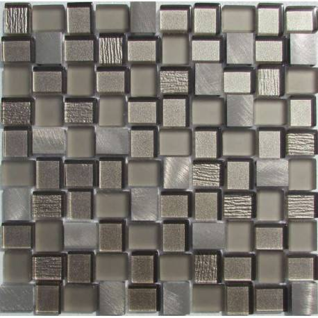 LIYA Mosaic YDB303 микс стеклянной и алюминиевой плитки-мозаики