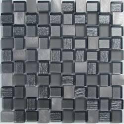 LIYA Mosaic YDB304 микс стеклянной и алюминиевой плитки-мозаики