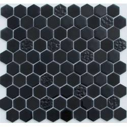 Hexagon Black Glass