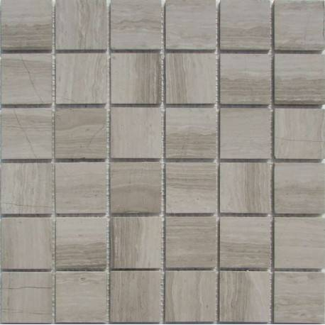 FK Marble White Wooden 48-4P каменная плитка-мозаика