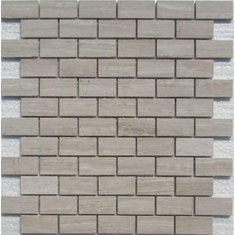 FK Marble White Wooden 23*48-4P каменная плитка-мозаика