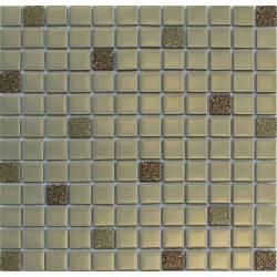 LIYA Mosaic Matt Gold стеклянная плитка-мозаика
