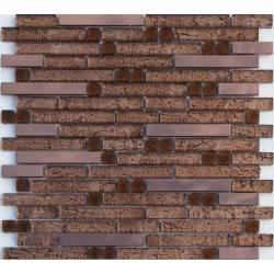 LIYA Mosaic H5417 микс стеклянной и металлической плитки-мозаики