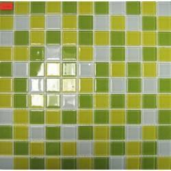 LIYA Mosaic Crystal Mosaic Lime стеклянная плитка-мозаика