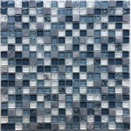 LIYA Mosaic Krit 6 микс стеклянной и каменной плитки-мозаики