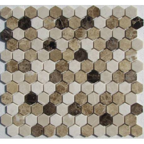 Hexagon Mix Emperador