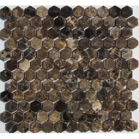 Hexagon Emperador Dark