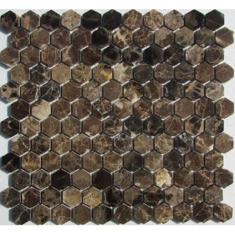 FK Marble Hexagon Emperador Dark каменная плитка-мозаика
