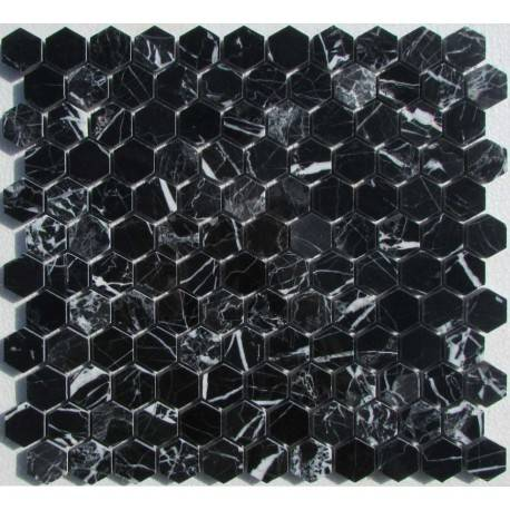 FK Marble Hexagon Nero Marquina каменная плитка-мозаика