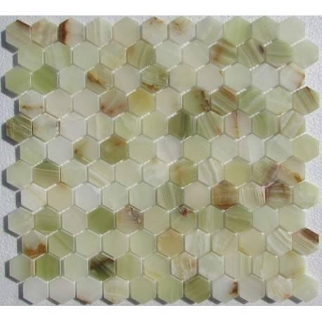 FK Marble Hexagon Onyx Jade Verde плитка-мозаика из оникса