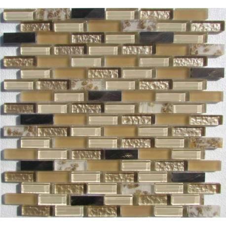 LIYA Mosaic H5418 микс стеклянной и алюминиевой плитки-мозаики