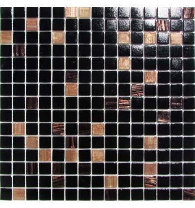 HK Pearl Black Gold стеклянная плитка-мозаика