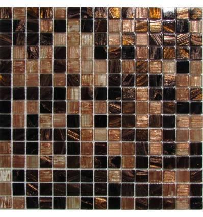 HK Pearl Mix Dark Chocolate стеклянная плитка-мозаика