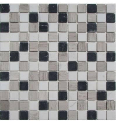 FK Marble Mix Black Grey 23-4T каменная плитка-мозаика