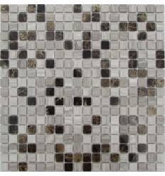 FK Marble Dark Wooden 15-4P каменная плитка-мозаика