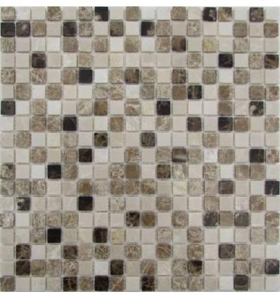 FK Marble Mix Emperador 15-4P каменная плитка-мозаика