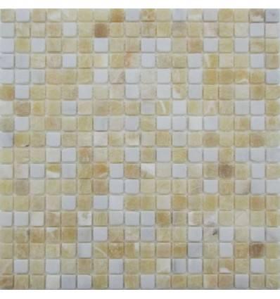 FK Marble White Golden Onyx 15-4T плитка-мозаика из оникса