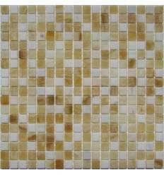 FK Marble White Golden Onyx 15-4P плитка-мозаика из оникса