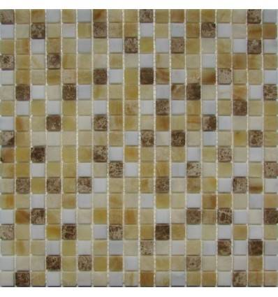 FK Marble White Cream 15-4P плитка-мозаика из оникса