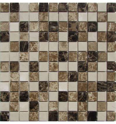 FK Marble Mix Emperador 23-6P каменная плитка-мозаика