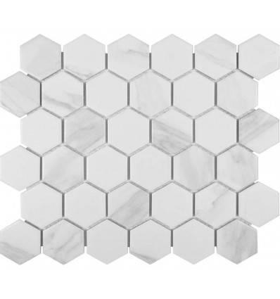 LIYA Mosaic Porcelain Hexagon Carrara 51 мозаика керамическая