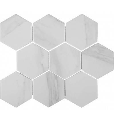 LIYA Mosaic Porcelain Hexagon Carrara 95 мозаика керамическая