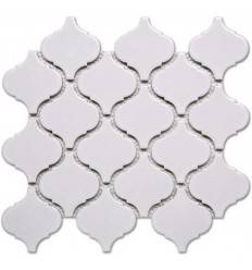 LIYA Mosaic Porcelain Arabesko Glossy White 74 мозаика керамическая