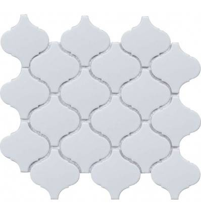 LIYA Mosaic Porcelain Arabesko Mate White 74 мозаика керамическая