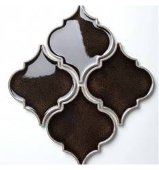 LIYA Mosaic Porcelain Arabesko Crackle Brown 160 мозаика керамическая