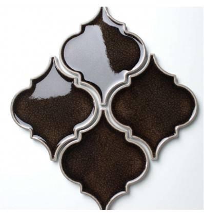LIYA Mosaic Porcelain Arabesko Crackle Brown 160 мозаика керамическая