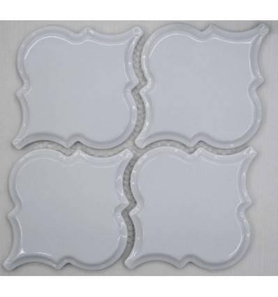 LIYA Mosaic Porcelain Arabesko Bevel White 160 мозаика керамическая