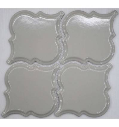 LIYA Mosaic Porcelain Arabesko Bevel Light Grey 160 мозаика керамическая