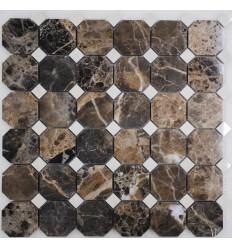 FK Marble M022+M030-BP плитка-мозаика из натурального мрамора