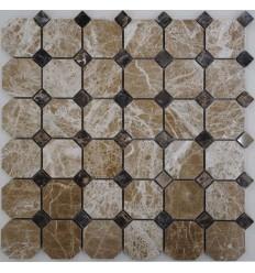 FK Marble M036+M022-BP плитка-мозаика из натурального мрамора