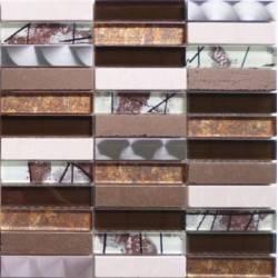 LIYA Mosaic Artist Brown микс стеклянной и каменной плитки-мозаики