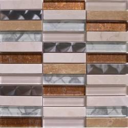LIYA Mosaic Artist Cream микс стеклянной и каменной плитки-мозаики