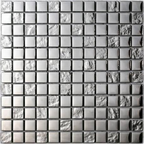 LIYA Mosaic Luxury Silver 23 стеклянная плитка-мозаика