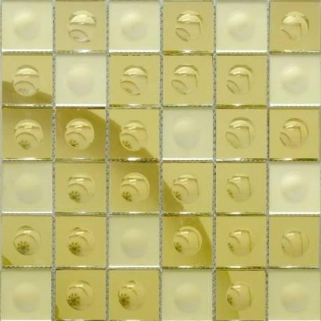 Зеркальная мозаика Gold-M Round