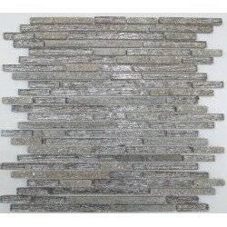LIYA Mosaic H5412 микс стеклянной и каменной плитки-мозаики