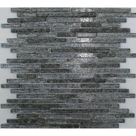 LIYA Mosaic H5413 микс стеклянной и каменной плитки-мозаики