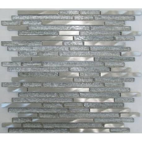 LIYA Mosaic H5422 микс стеклянной и алюминиевой плитки-мозаики