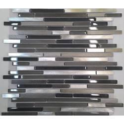 LIYA Mosaic XF256 микс стеклянной и алюминиевой плитки-мозаики