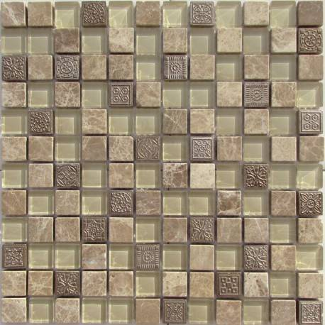 LIYA Mosaic Krit 5 микс стеклянной и каменной плитки-мозаики