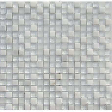 LIYA Mosaic Snowstorm 2 микс стеклянной и каменной плитки-мозаики