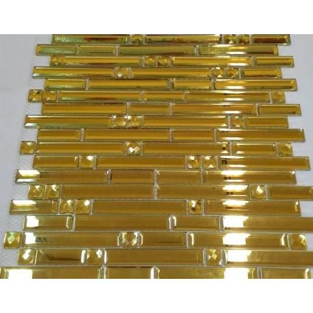 Зеркальная мозаика Mirror Stripes Gold