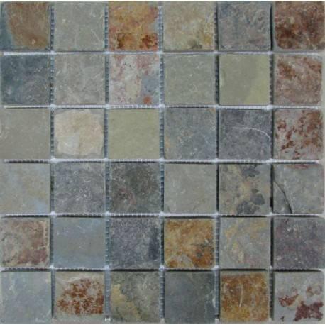 FK Marble Slate Rusty 48 плитка-мозаика из сланца