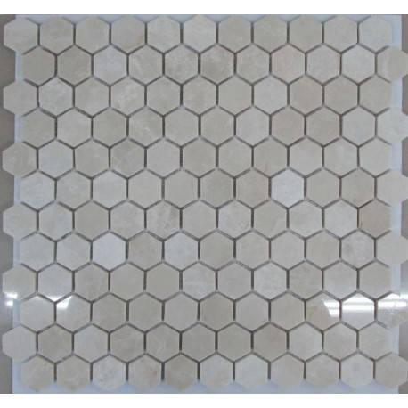 FK Marble Hexagon Crema Nova каменная плитка-мозаика