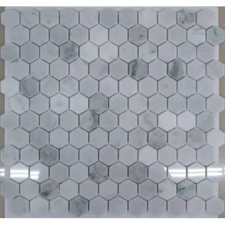 FK Marble Hexagon Bianco Carrara каменная плитка-мозаика
