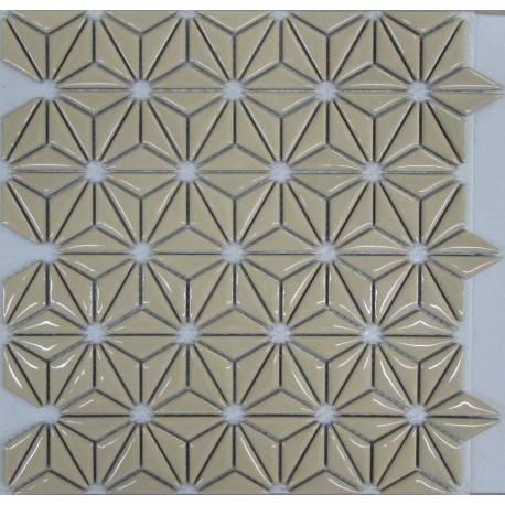 LIYA Mosaic Flowers Beige керамическая плитка-мозаика